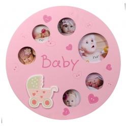 Dětský fotorámeček na více foto ALLROUND růžová
