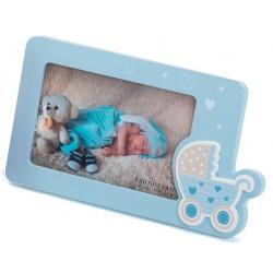 Dětský fotorámeček s aplikací 15x10 modrá