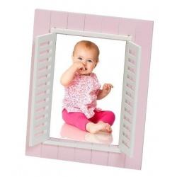 Dětský fotorámeček BABY WINDOW 13x18 růžový