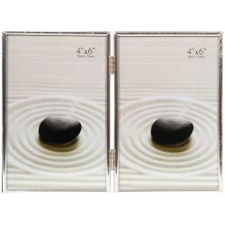 Stříbrný fotorámeček 2/10x15 DUO I
