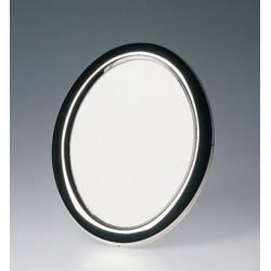 Oválný kovový fotorámeček 10x15 BRASIL stříbrná