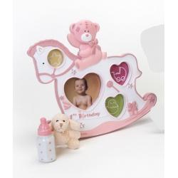 Dětský fotorámeček BABY ROCKER růžový