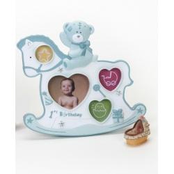 Dětský fotorámeček BABY ROCKER modrý