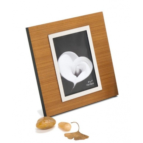 Dřevěný fotorámeček DIJON 13x18 HELLBRAUN