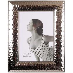 Stříbrný kovový fotorámeček 15x20 FUTURE stříbrný nikl