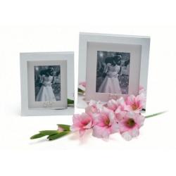WEDDING RING 10x15 Stříbrný svatební fotorámeček