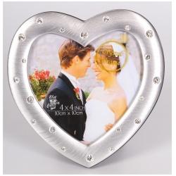 Kovový fotorámeček LOVE COUPLE 10x10 stříbrný