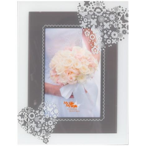 Svatební skleněný fotorámeček 13x18 SWEET HEART