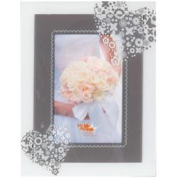 Skleněný svatební fotorámeček 10x15  SWEET HEART