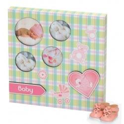 Dětský magnetický fotorámeček BABY KARO růžová