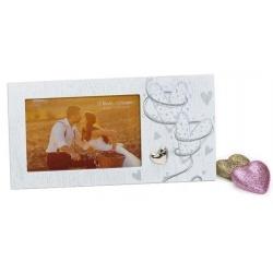 Svatební fotorámeček PURE LIVE 15x10 bílá