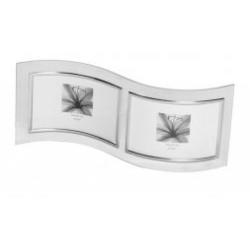 Skleněný dvojrámeček VERONA 2/15x10 stříbrný