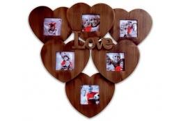Fotorámeček LOVE na více fotografií 6/10x10 antická zlatá