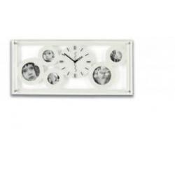 Fotohodiny bílé kapacita 5xfoto rozměr 60x27,5cm