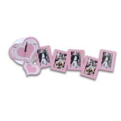 Růžové dětské fotohodiny 4 foto