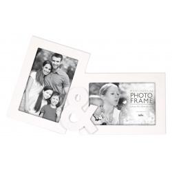 Bílý fotorámeček na více foto TY a JÁ na 2 fotografie
