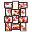 Hnědý fotorámeček na více foto, galerie na 12 fotografií 10x15