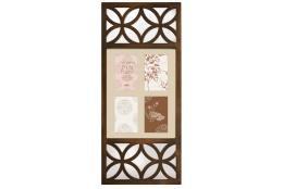 Bronzový fotorámeček na více foto, s dekorativním zrcadlem