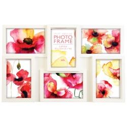 Bílý fotorámeček na více foto, na 6 fotografií 10x15