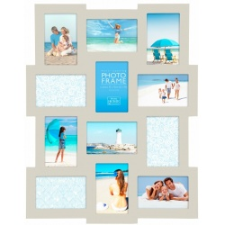 Dřevěný fotorámeček na více fotek 10x15 Collection šedý
