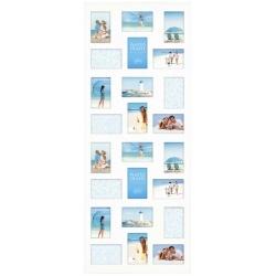 Dřevěný fotorámeček na více fotek 10x15 Collection bílý