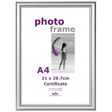 Stříbrný plastový fotorámeček A4 21x29,7 plexi
