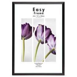 Černý plastový fotorámeček  21x29,7 A4 EASY Frame