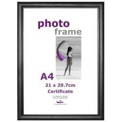 Plastový černý fotorámeček A4 (21x29,7) sklo