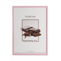 Dřevěný fotorámeček DR0C1K 15x21 C7 růžový