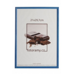 Dřevěný fotorámeček DR0C1K 20x30 C2 tmavě modrý