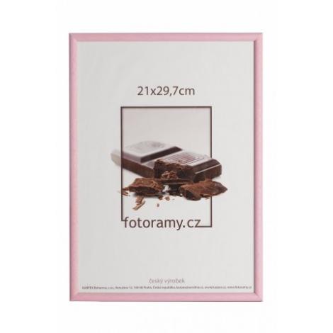 Dřevěný fotorámeček DR0C1K 20x30 C7 růžový