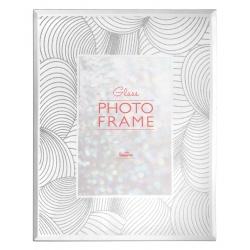 Skleněný fotorámeček s třpytkami 10x15