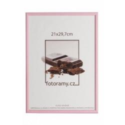 Dřevěný fotorámeček DR0C1K 21x29,7 A4 C7 růžový