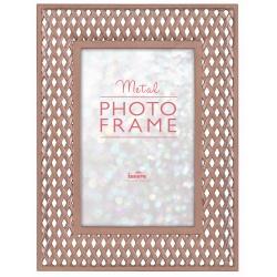 Kovový fotorámeček 10x15 Latice růžzlato