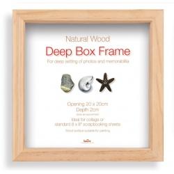 Hluboký fotorámeček BOX 30x30 natural
