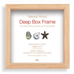 hluboký fotorámeček BOX 20x20 natural