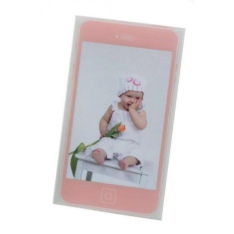 Dětský akrylový fotorámeček MOBIL 10x15 růžová