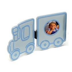 Dětský fotorámeček BABY OVERALL 4,5cm modrý