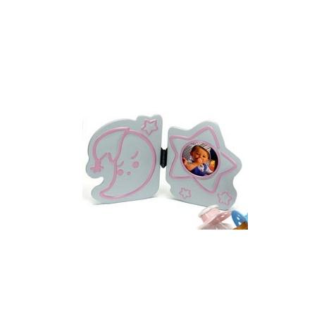 Dětský fotorámeček BABY OVERALL 4,5cm růžový