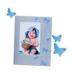 Dětský modrý fotorámeček 10x15 SMART BUTTERFLY