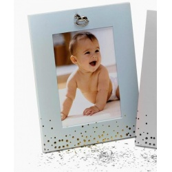 Kovový dětský fotorámeček 13x18 BABY FACE modrý
