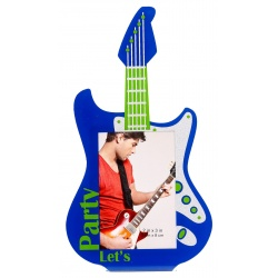 Akrylový fotorámeček 5x8 PLAY GUITAR modrý