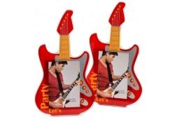Akrylový fotorámeček 5x8 PLAY GUITAR červený