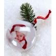 Vánoční ozdoba na stromeček koule 7,5cm