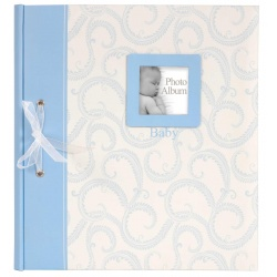 BABY TRADITIONAL klasické dětské fotoalbum 28x32/60s. modré