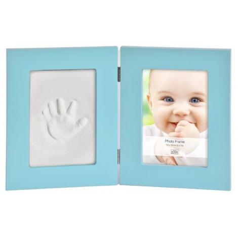 Dětský set na obtisky a fotku 13x18cm BabyKeepsake modrý