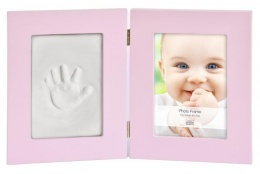 Dětský set na obtisky a fotku 13x18cm BabyKeepsake růžový
