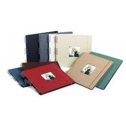 Spirálové fotoalbum na růžky 30x30/40s. CANVAS tm. červené