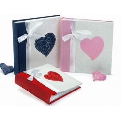 Svatební fotoalbum 10x15/200 foto MY HEART růžové