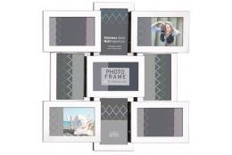 Stříbrný kovový fotorámeček na 9 fotek 10x15 SS